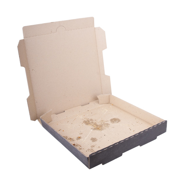 greasy cardboard