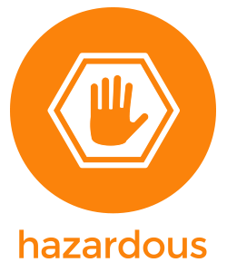 hazardous product icon