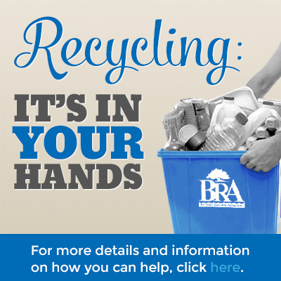 recycling in your hands