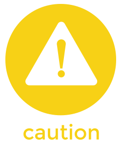 take caution icon
